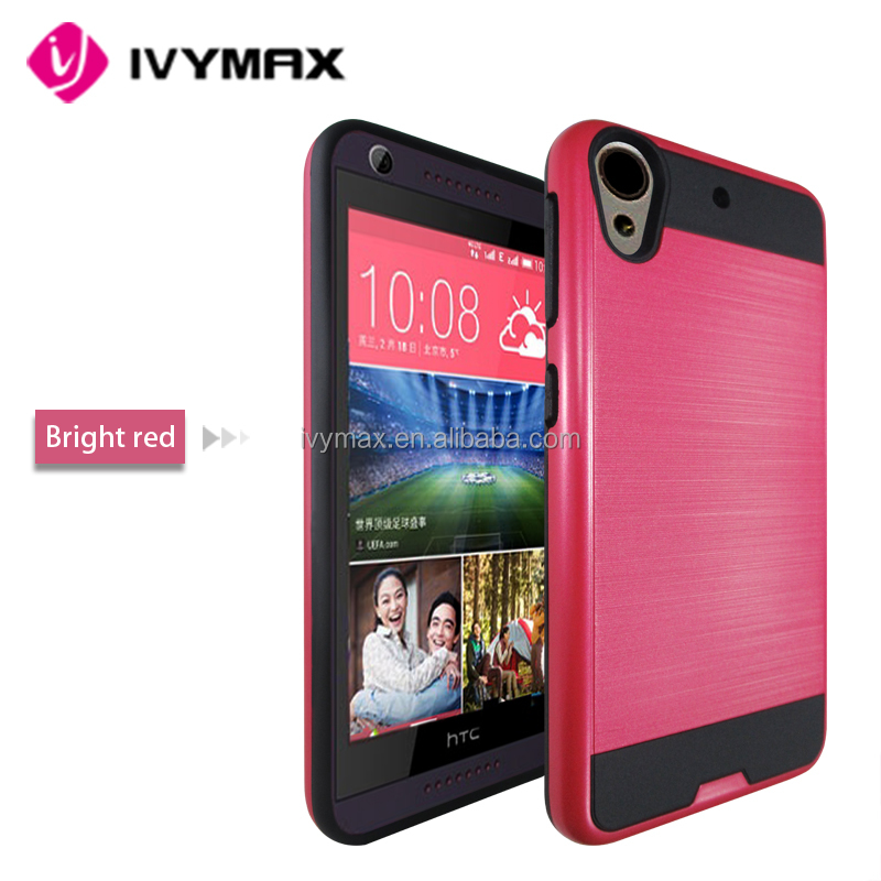 Red on Black Dual Hybrid Slim Armor Case Cover For HTC Desire 626 626s Phone