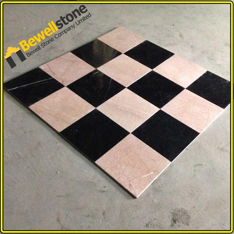 Klassieke ontwerp van zwarte en witte marmeren vloeren tegel, china goedkope home ide u00eben