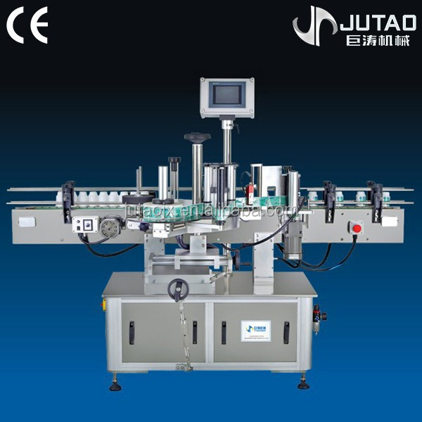 Automatic round bottle labeling machine with date printing