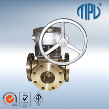 Gear Box Floating Brass 3 Way Ball Valve price importer in delhi