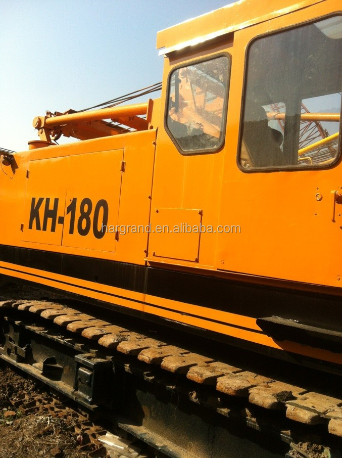 Hitachi kh180-3 crawler crane 50ton for sale, HITACHI tracked crane 50ton from Japan