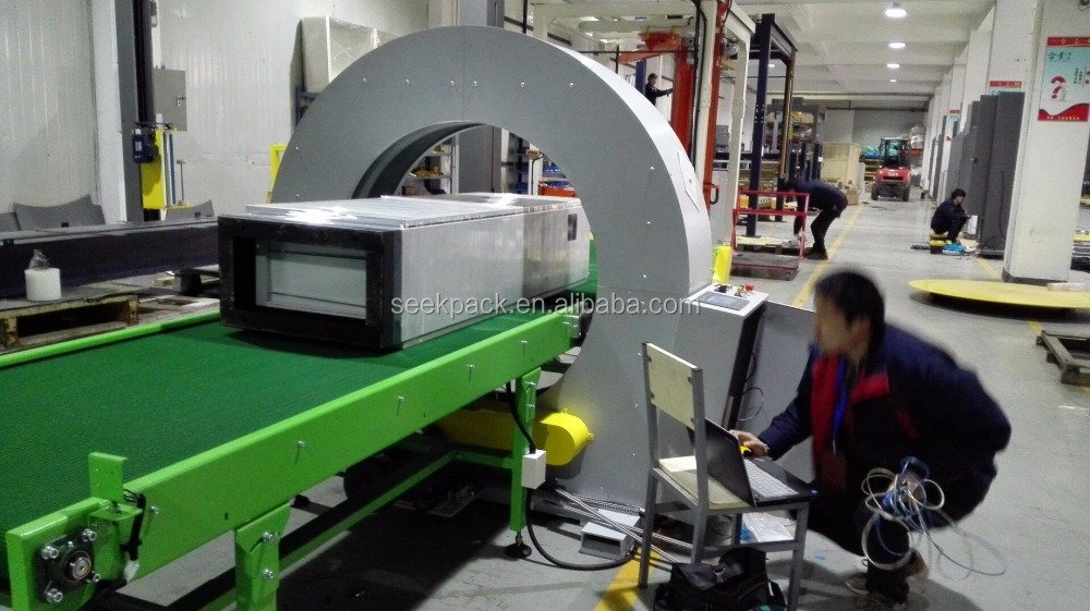Horizontal PE Film Stretch Wrapping Machine for white or red oak plywood & 3mm red oak plywood