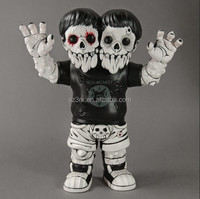 New design double heads monster with horrible expression plastic toy figurine/custom your own special action figure
