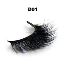 Custom eyelash packaging silk mink lashes 3d fiber synthetic hair false eyelashes