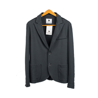 Senior Grey Color Double Button Men's Jackets Two Side Pockets Clothing for Male