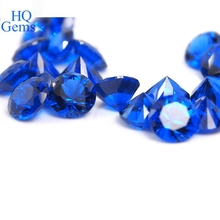 synthetic blue spinel rough round diamond cut 3mm