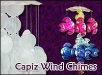 Capiz Hanging Chandeliers and wind chimes