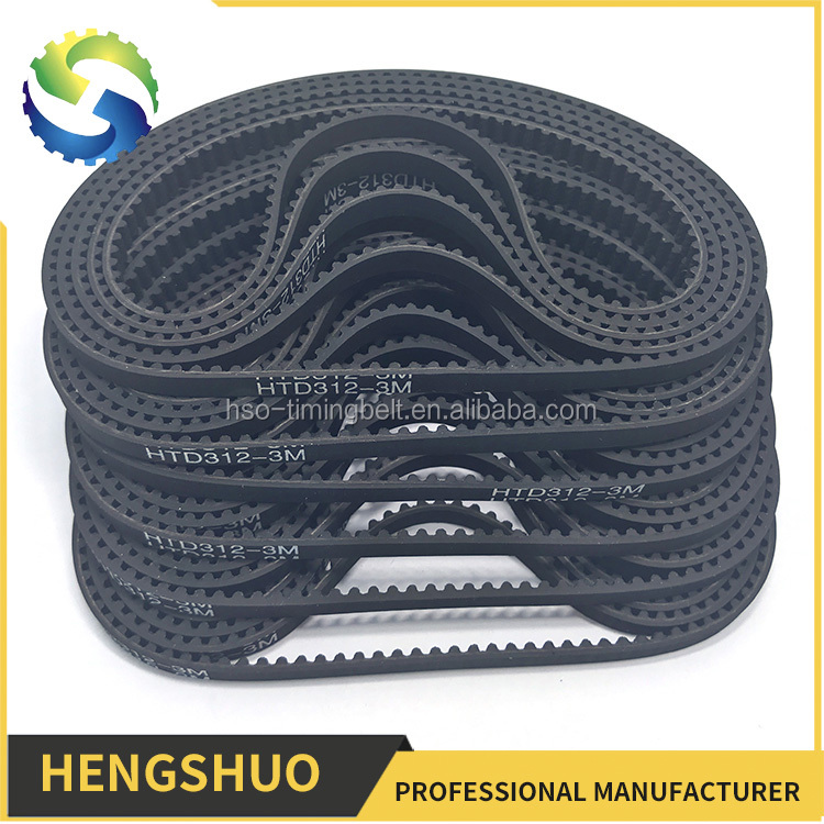 HENGSHUO oem custom-made durable machinery rubber timing belt with different size