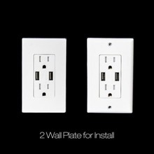 BAS15-2USB American style electrical switched 2 usb wall socket