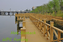 Streamside landscape building fencing compound wood rail modern wood fence