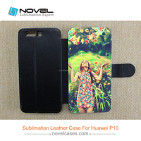 2017 wholesale price sublimation pu leather phone case for P10