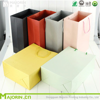 Nice designed colorful thicken kraft paper shopping bag