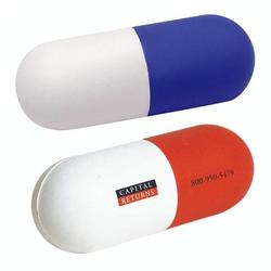 pu reliever toys pill capsule stress ball