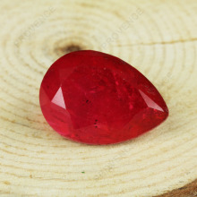 Pear cut imitation ruby gemstones price for Jewelery making