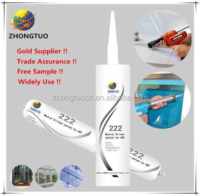 Silicone Main Raw Material Clear Silicone Sealant