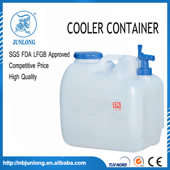 23L Plastic cooler water container with tap