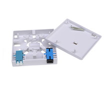 Supply 2ports fiber optic face plate 1 port ftth wall outlet SC LC terminal box