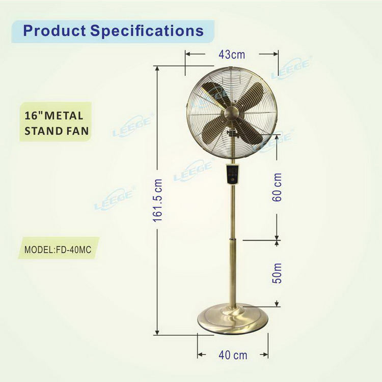 "FD-40M GS CE ROHS hot sell 10"" 12"" 16"" 18"" Chrome big metal stand antique fan"