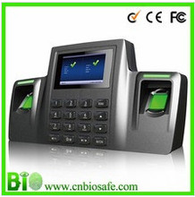 HF DS100 Smack Bio Fingerprint Time Attendance With Double Fingerprint Sensor For Dry And Wet Finger