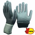 NMSAFETY knitted nylon/spandex double liner coated high-tech foam nitrile gloves