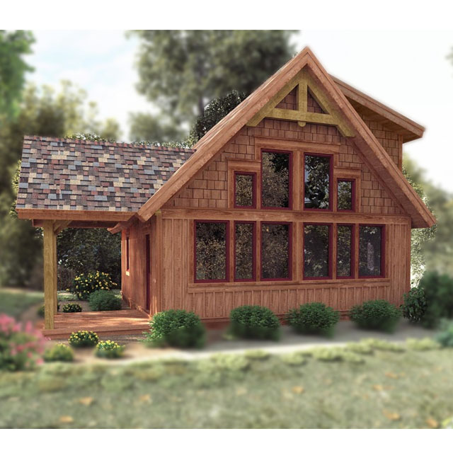 prefab small wooden house log home