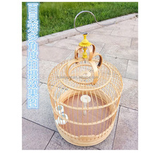 Export wholesale bamboo bird cage manufacturers.