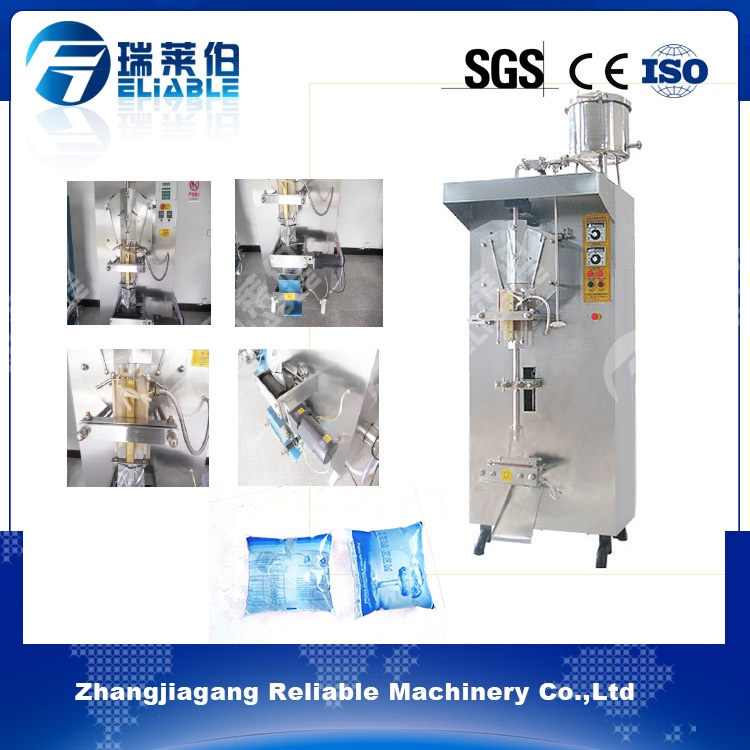 Easy operation cost reducing aseptic plastic drinking water bag liquid filling sealing machine