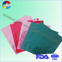 pure aluminum foil with colored printing for food wrap
