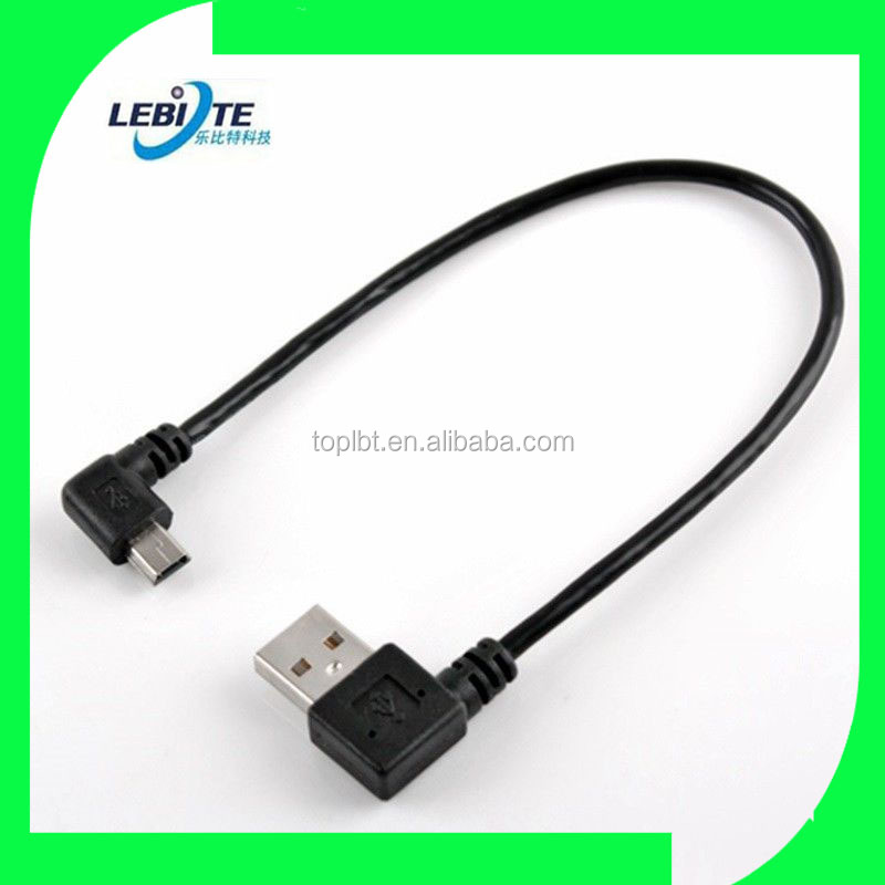 Right angle USB 2.0 A male to Right angle Mini B 5pin male adapter 30cm / 12inch