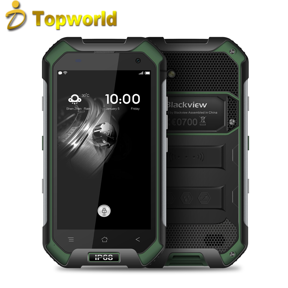 "Original Blackview BV6000S Mobile Phone IP68 Shockproof Android 6.0 4.7"" <strong>720p</strong> MTK6735 <strong>Quad</strong> Core 8 MP+4MP 4G FDD LTE 2GB+16GB"