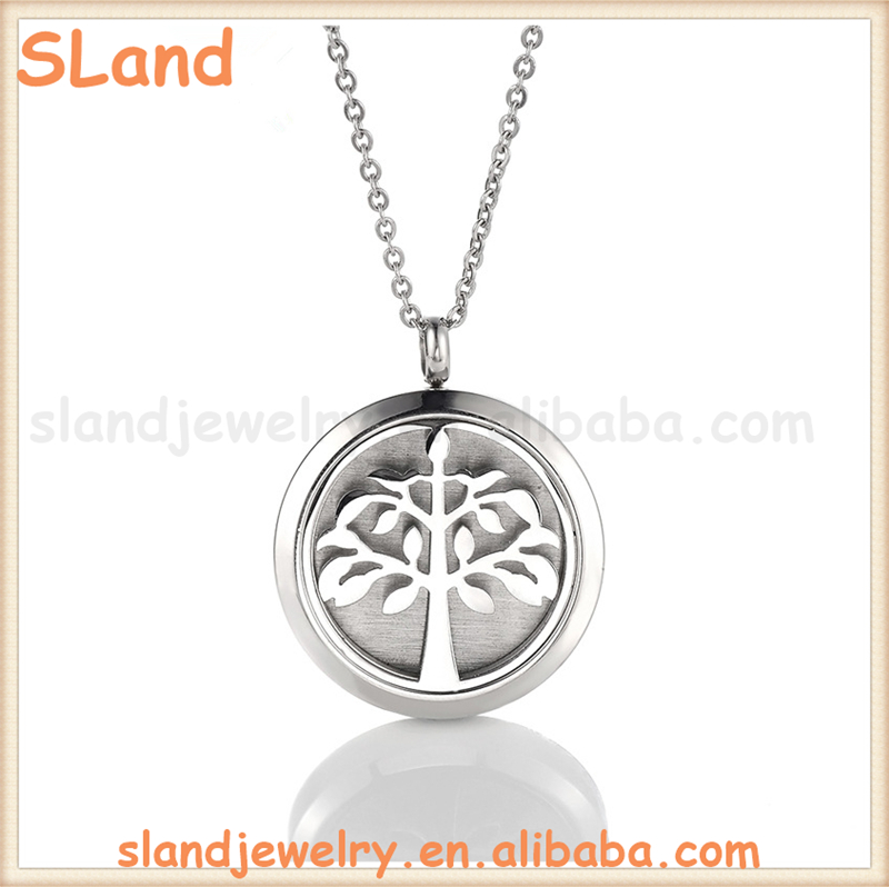 2017 Fashion Jewelry Aromatherapy Essential Oil Diffuser Necklace With 316L Stainless Steel Pendant + chain + felt pads sets