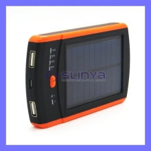 6000mah Solar Sun Mobile External Battery USB Portable Outdoor Charger