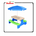 Shinyagrden Easy Store KD Large children Picnic Table with Umbrella
