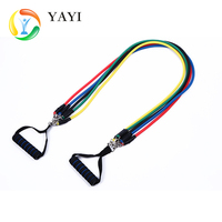 12 pcs Resistance Bands Set Fitness Exercise Workout Tubing with Door Anchor Hand les,Ankle straps,Wall pulley,Carry