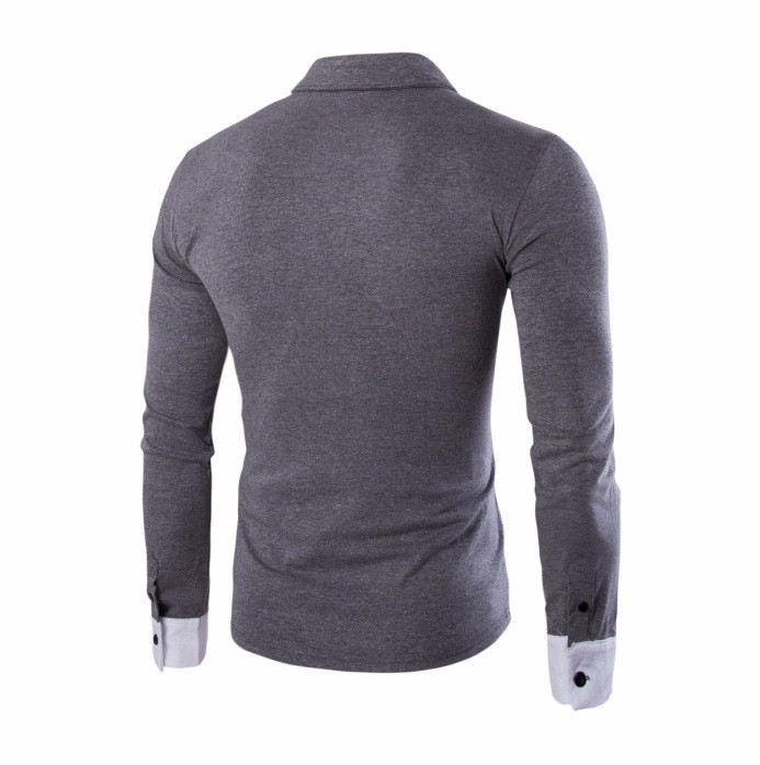 New product wholesale blank white t-shirt long sleeve polo t shirt men
