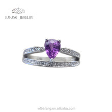 Wholesale Brazilian natural amethyst ring made in China