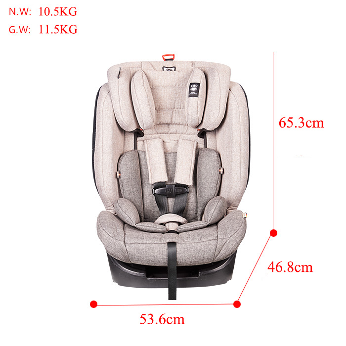 YY10 ECE R44/04 ISOFIX baby safety car seat for Group1+2+3 (9-36kg )