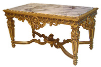 French Classic Hand Craved Center Table - Antique Reproduction Furniture