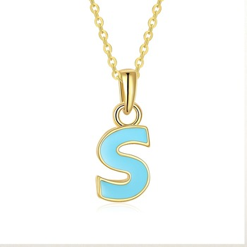 NL0009 WT Yiwu friendship jewelry long chain alphabet necklace wholesale for women