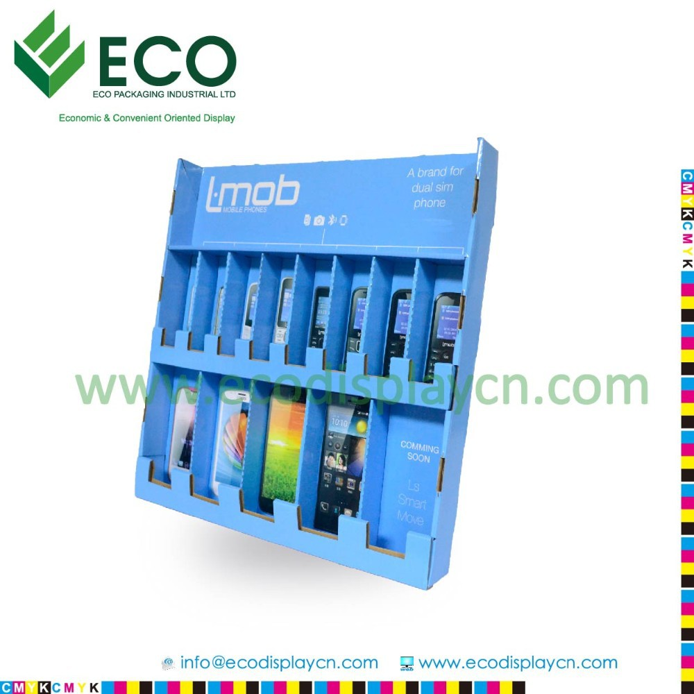 Point of sale mobile display, cardboard counter display