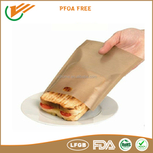 China manufacturer non-stick healthy heat resistant dishwasher safe microwave toaster bags