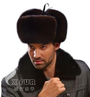 CX-C-170B Fashion Mink Fur Russian Style Mens Winter Hats