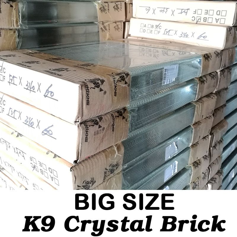 Wholesale Clear K9 Glass Building glass blocks crystal crafts Raw Material Brick