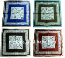 fashion square printing silk kerchief