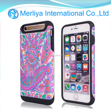 Lagging PU Leather Hard Back printing Case for iPhone6 / Plus