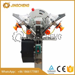 JingCheng fully automatic Plastic Snap Button Attaching Machine for pvc bag