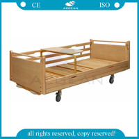 AG-BYS113 CE ISO home care furniture patient room wooden manual hospital bed