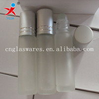 Glass prefume bottle with rubber stoppers