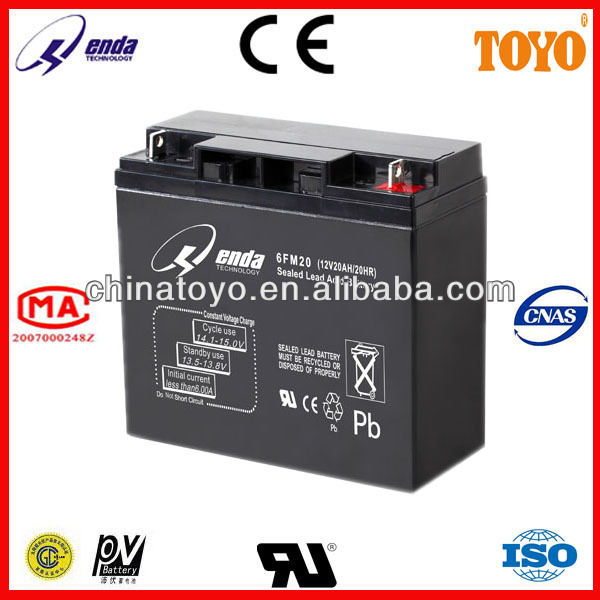 12V20AH New type solar energy storage battery price CE&RoHS