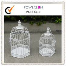 Garden And Home Decorative Vintage White Iron small bird cage